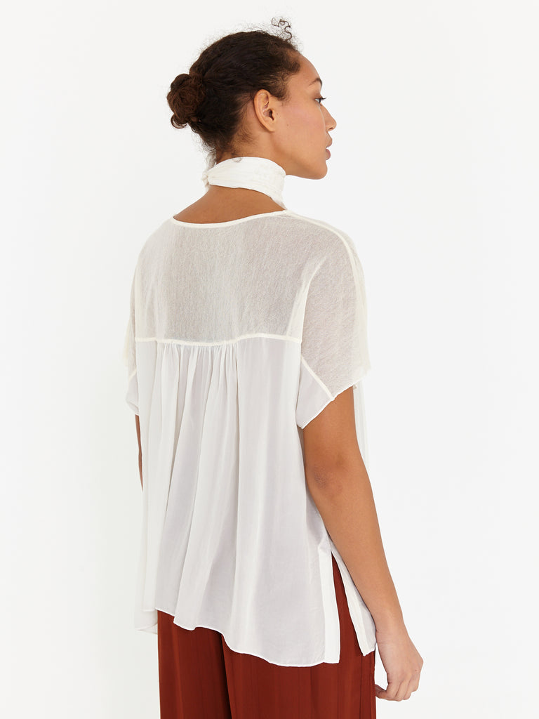 Ivory Mesh Medley Sweetheart Top