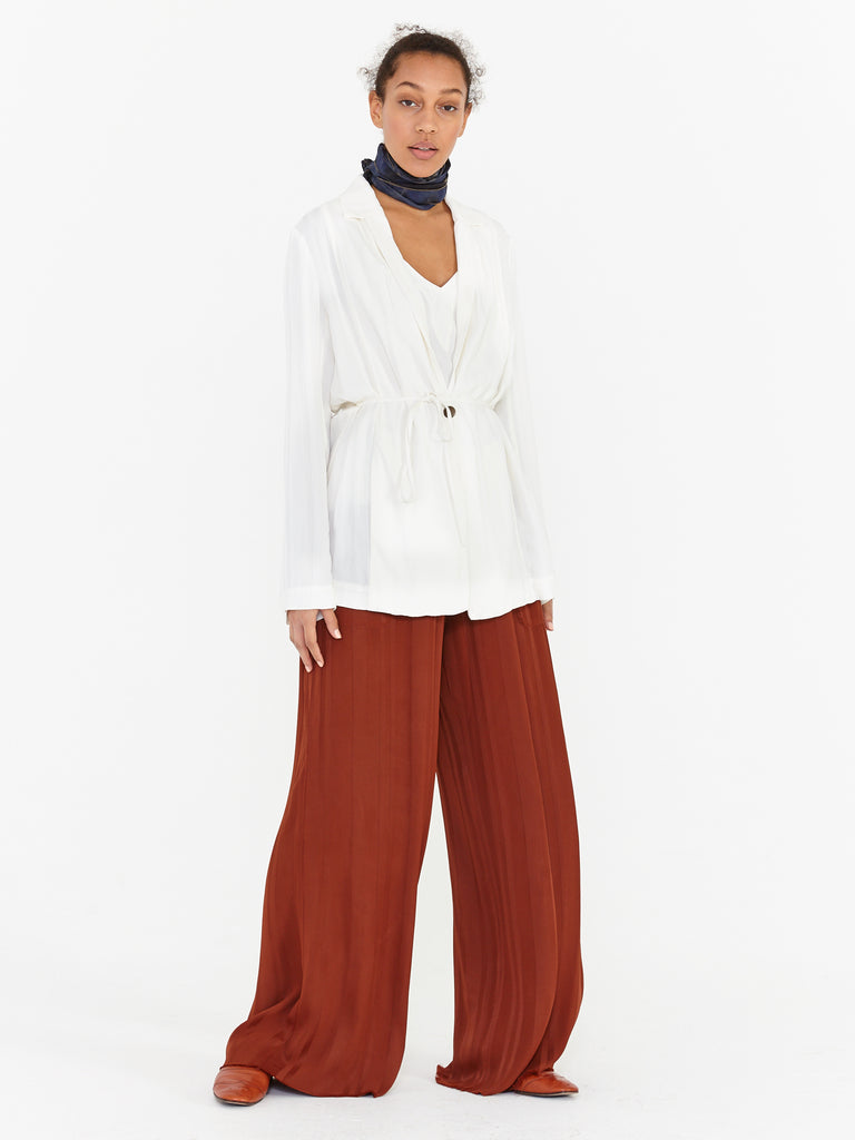 Paprika Stripe Satin Wide Leg Pant