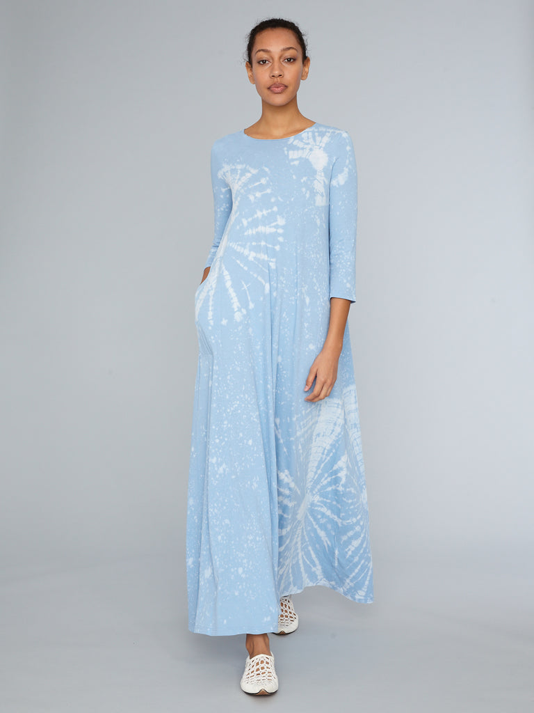 Blue Constellation Jersey Half Sleeve Drama Maxi