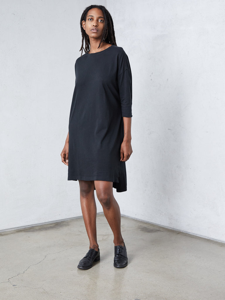 Black Jersey Cocoon Dress