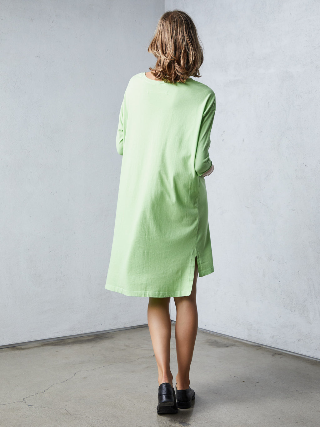 Lime Green Jersey Cocoon Dress