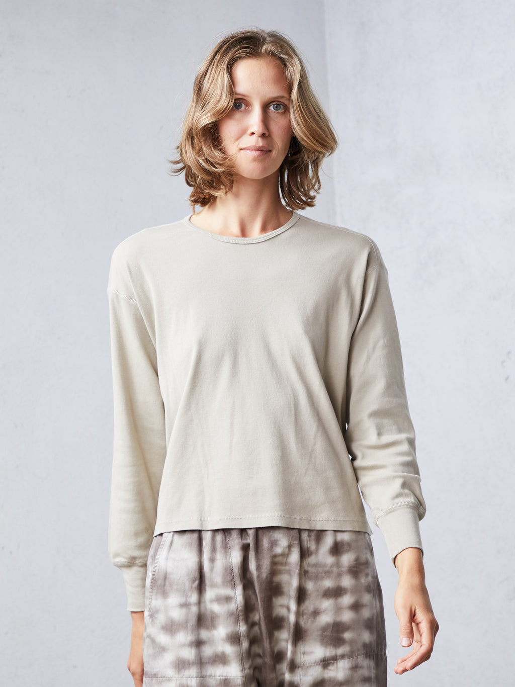 Taupe Rib Tracker Top