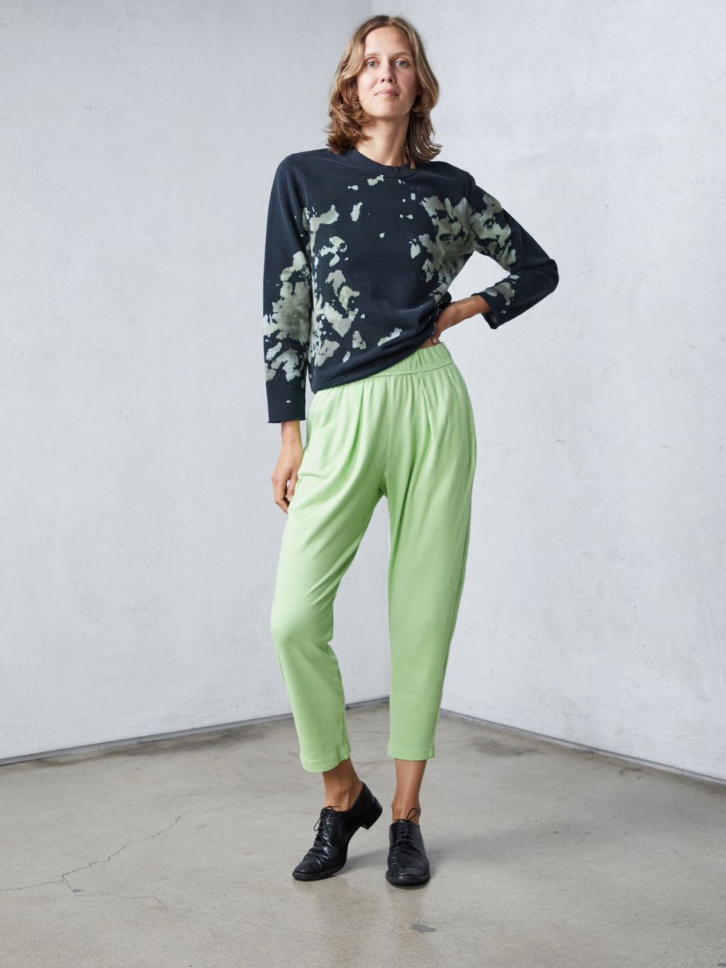 Lime Green Jersey Easy Pant