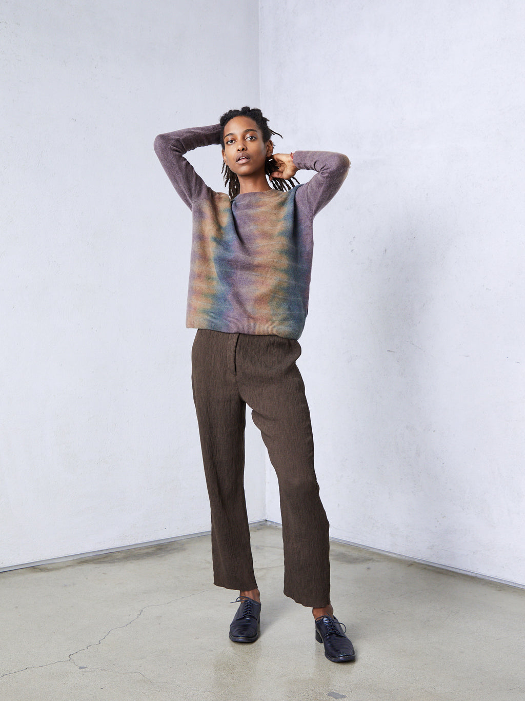 Dusty Rainbow Cashmere Crew