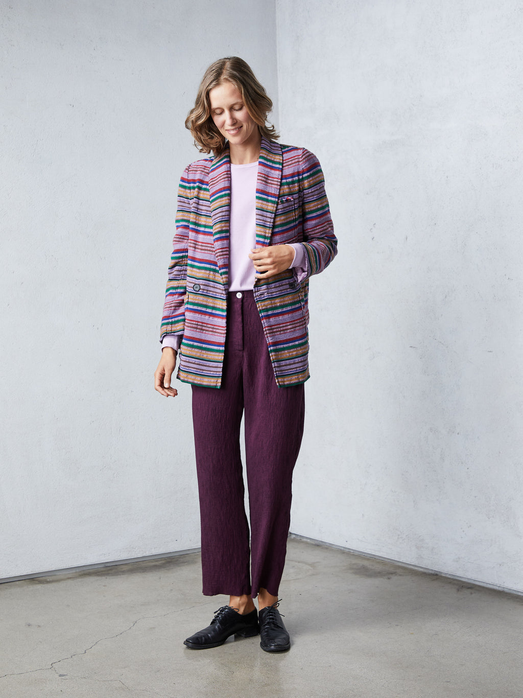 Lilac Stripe Country Cloth Blazer