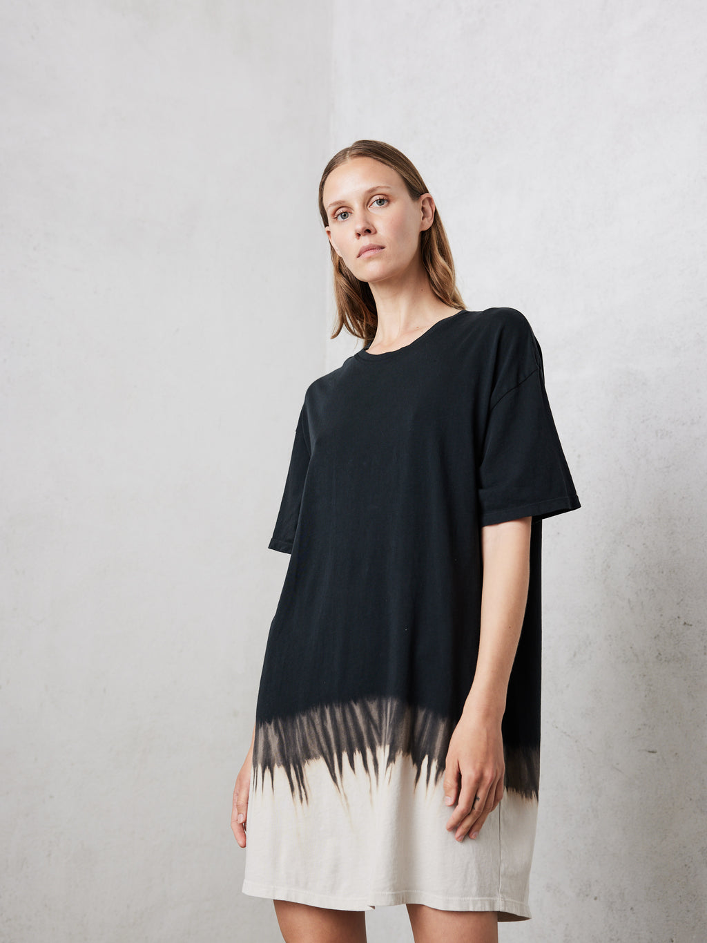Black Horizon Jersey T-shirt Dress