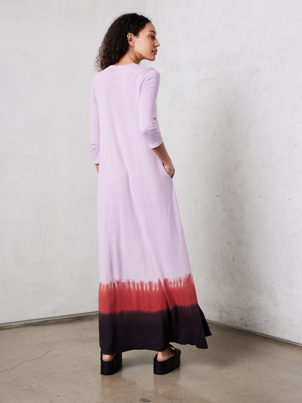 Purple Horizon Jersey Drama Maxi