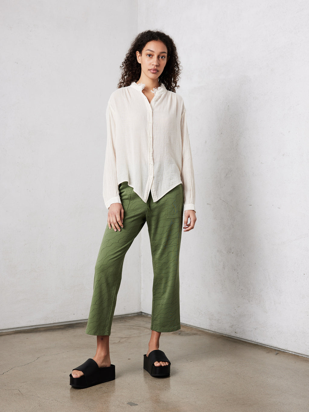 Army Waves Spring Cotton Flood Pant