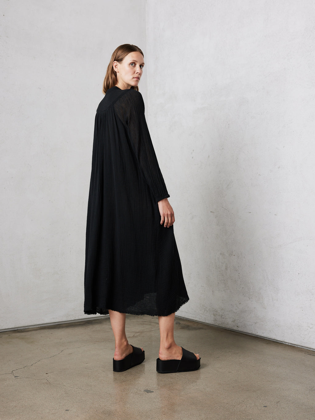 Black Gauze Serenity Dress