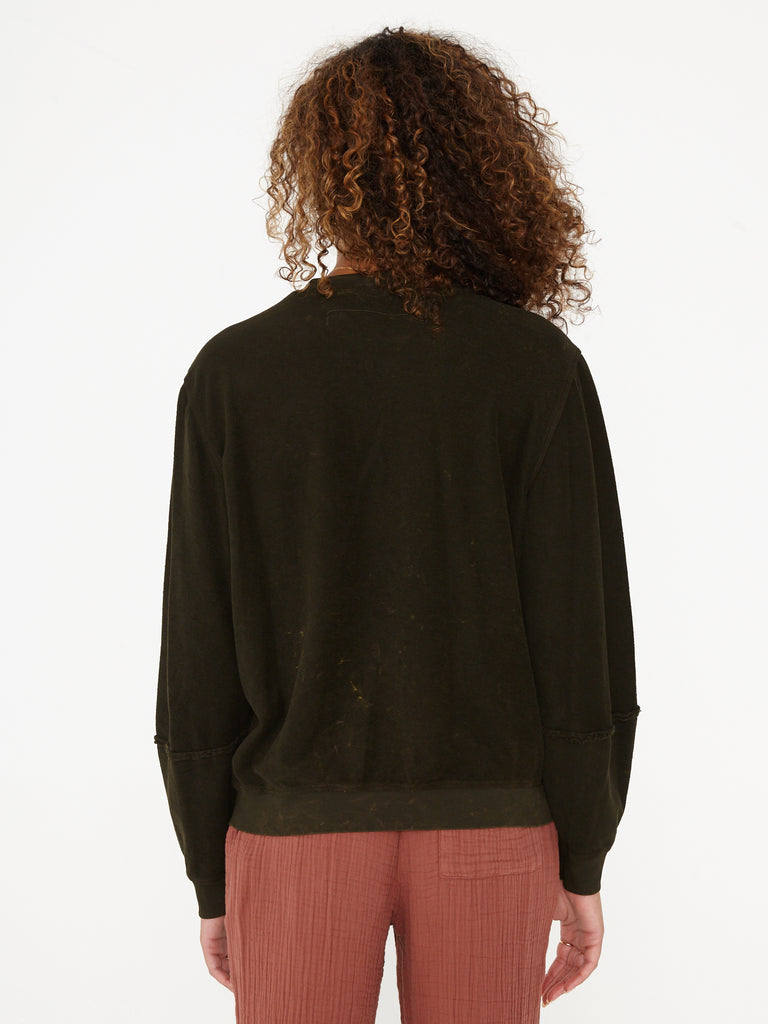 Dark Hunter Mineral Wash French Terry Lantern Sleeve Sweatshirt