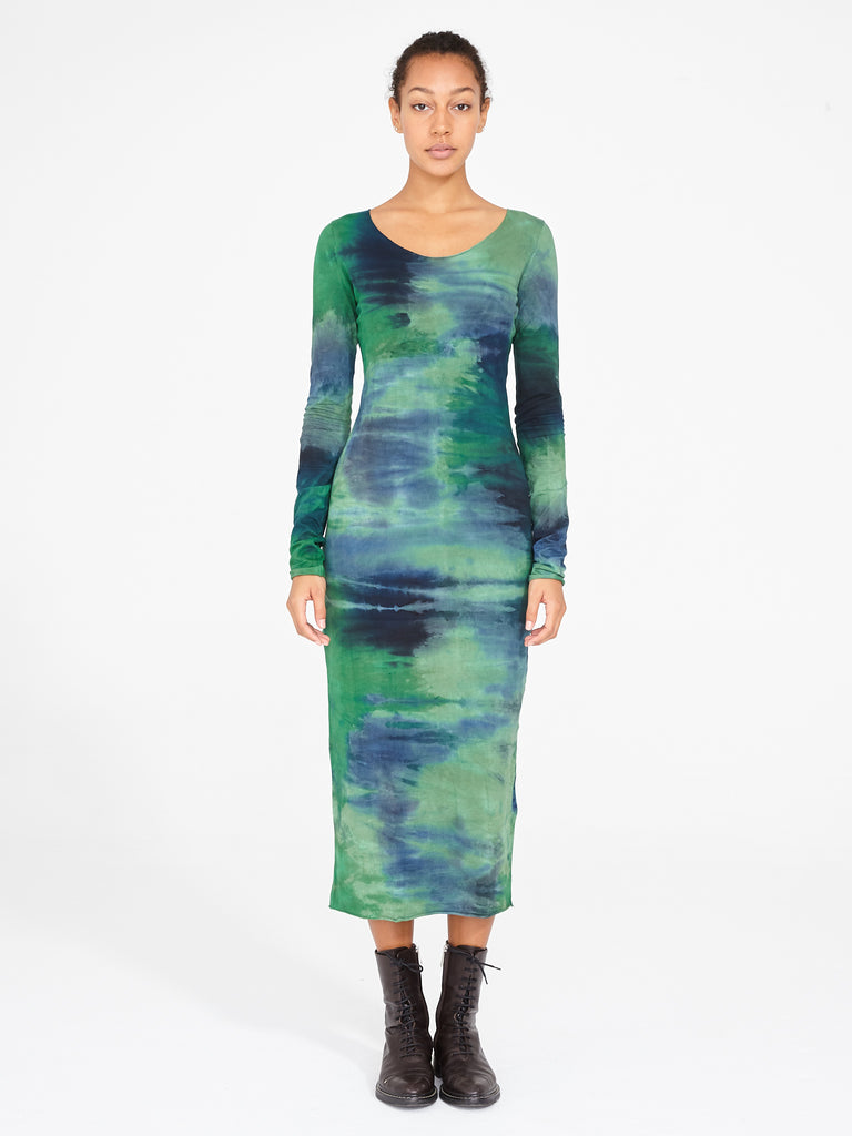 Jade Jersey Fitted Long Sleeve Dress