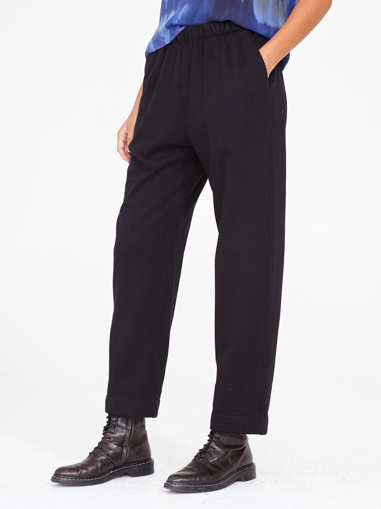 Black Fleece Ankle Pant