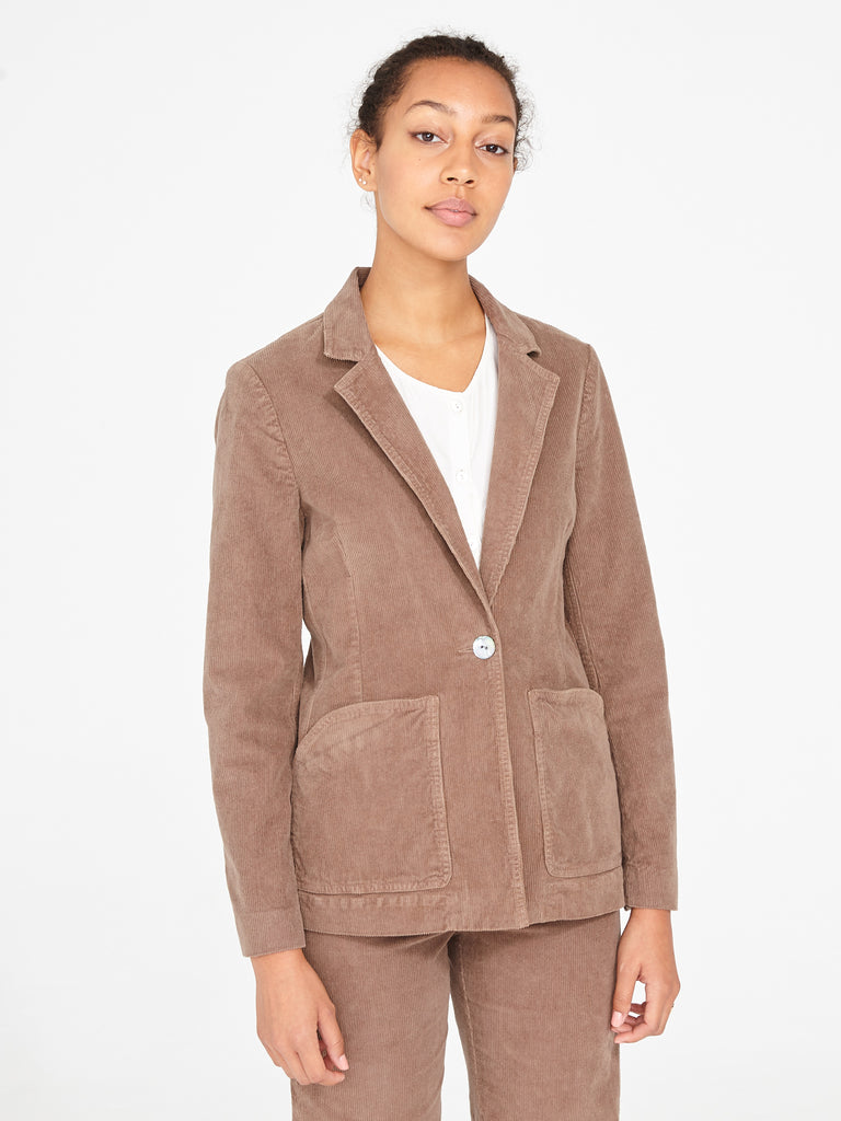 Sand Corduroy Tailored Blazer