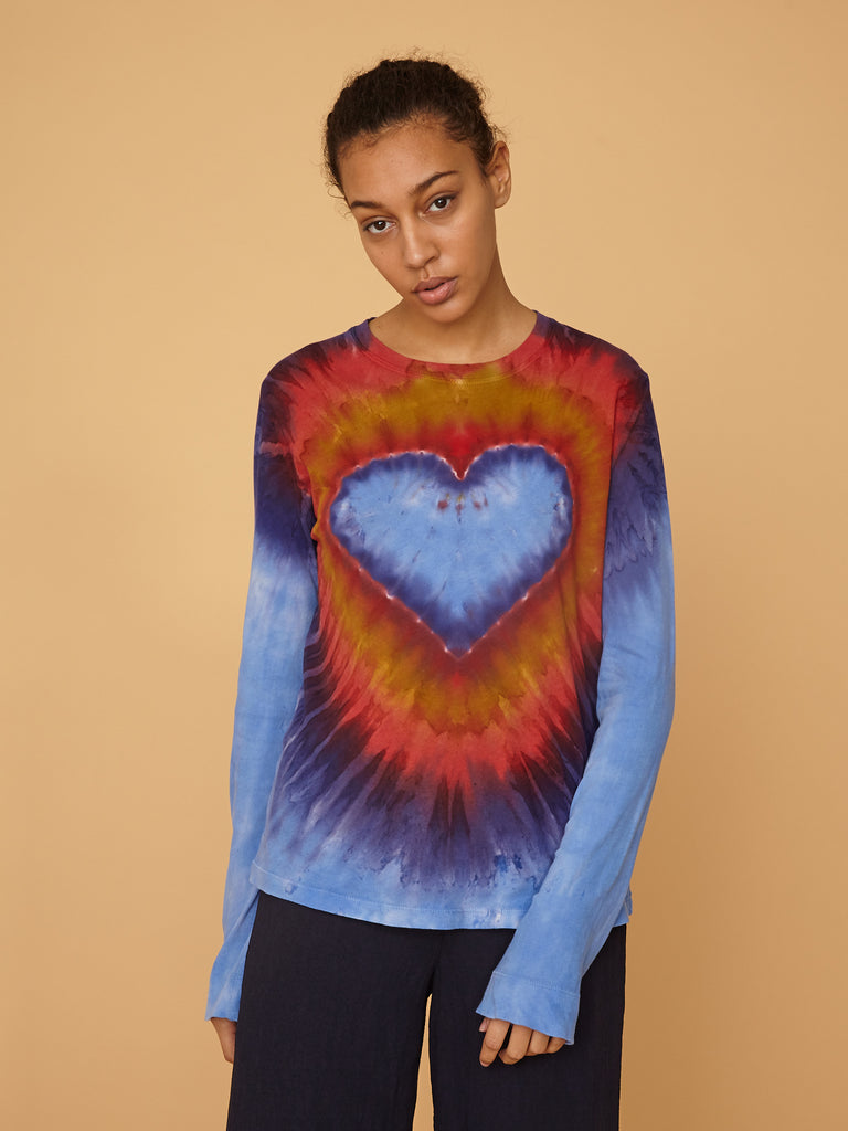 Heart Jersey Long Sleeve Crew