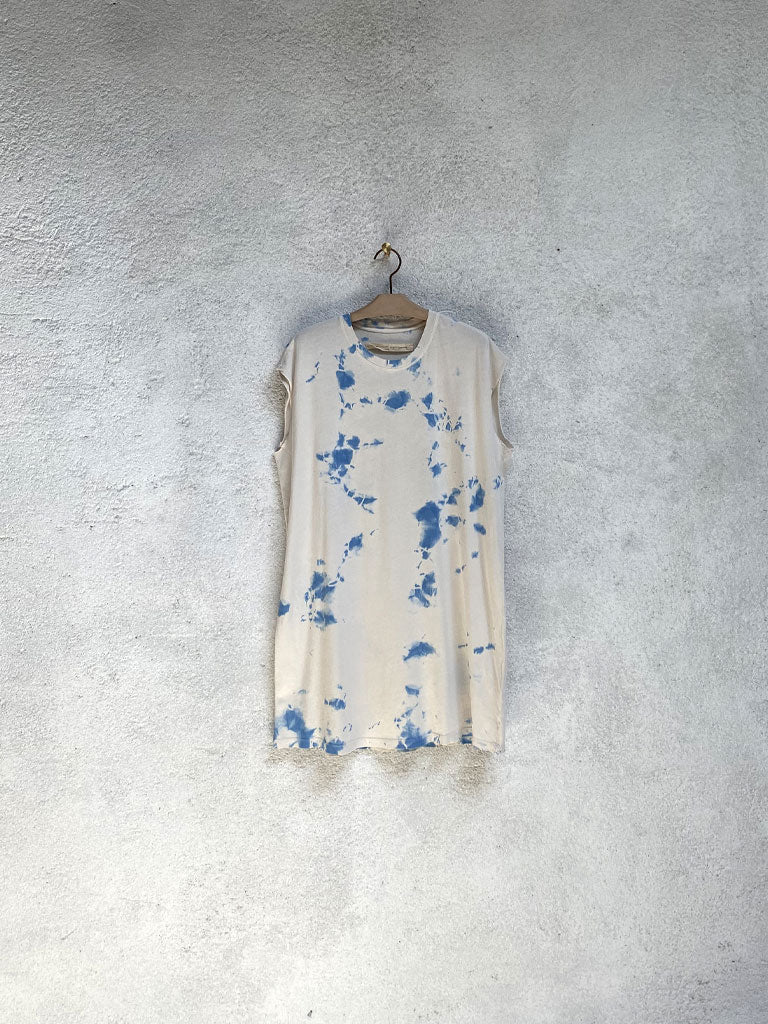 Cloud Blue Andromeda Cutoff T Shirt Dress