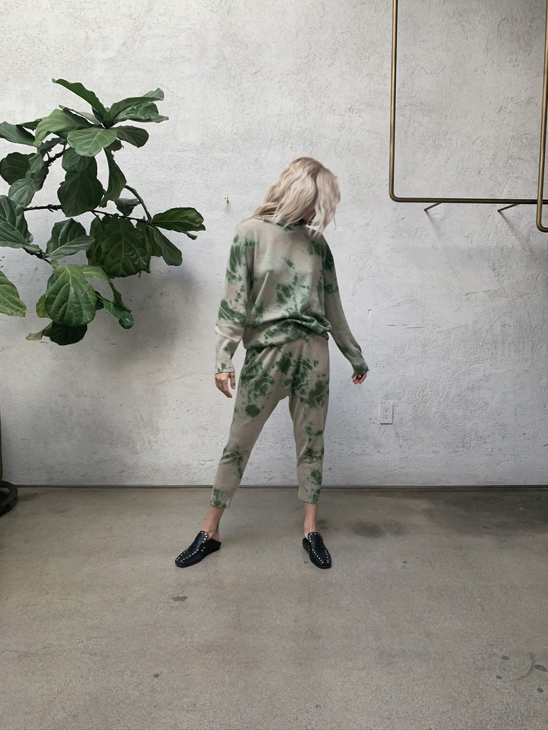 Forest Cashmere Drop Crotch Pant