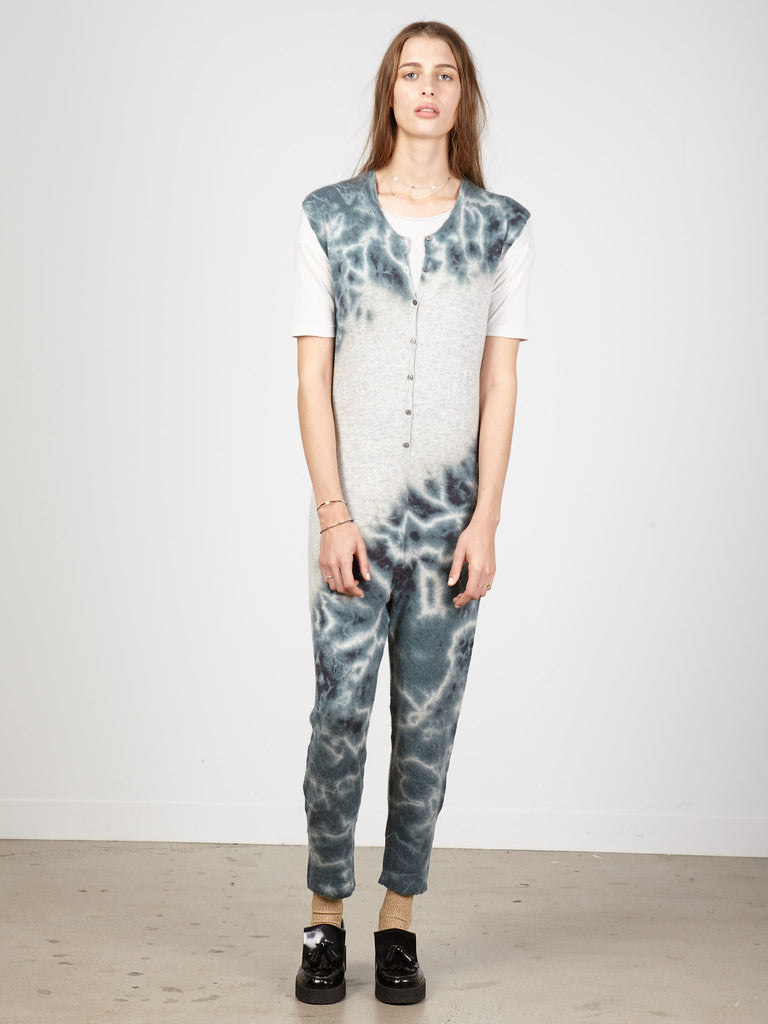 Hunter Green Tie Dye Cashmere Onesie