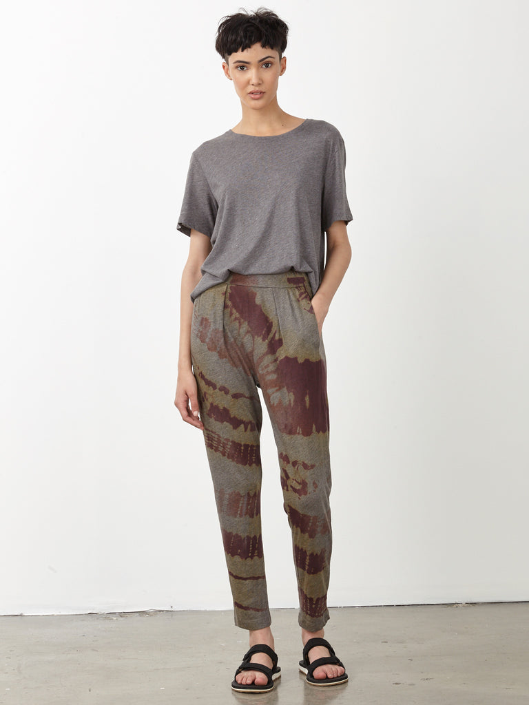 Mulberry Tie Dye Jersey Easy Pant