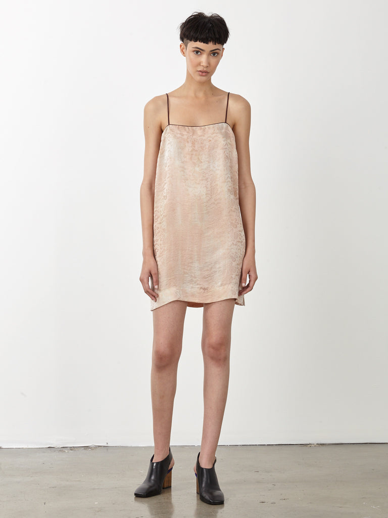Desert Silk Damask 90's Mini Dress