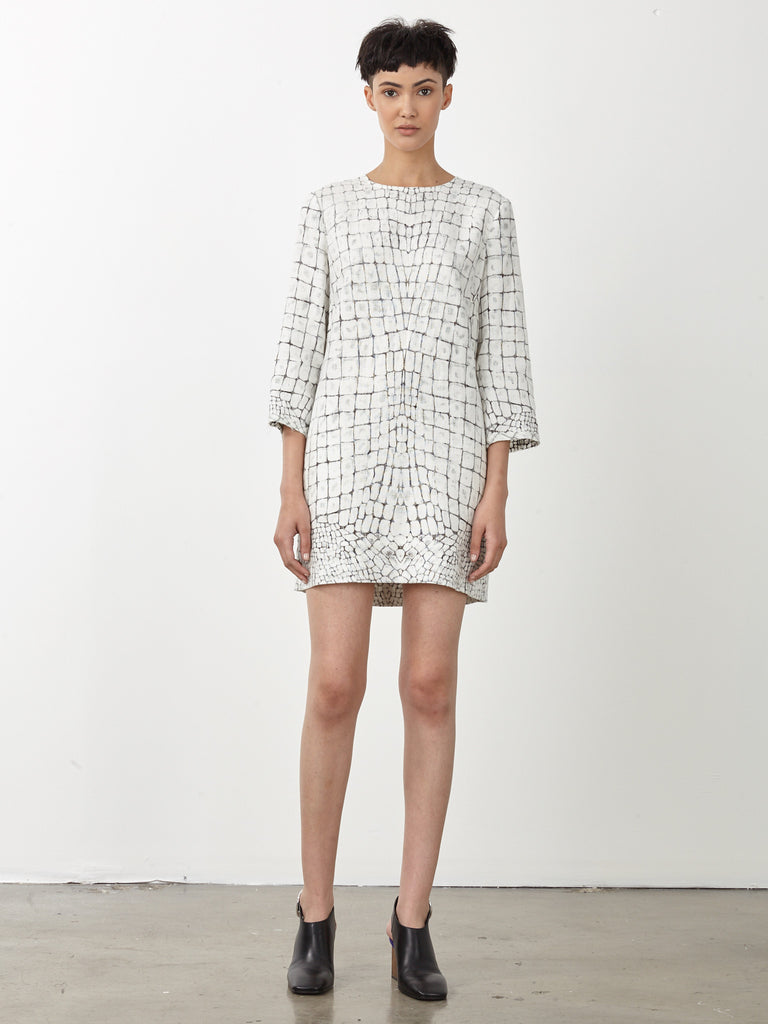 Bleached Gator Linen Shift Dress
