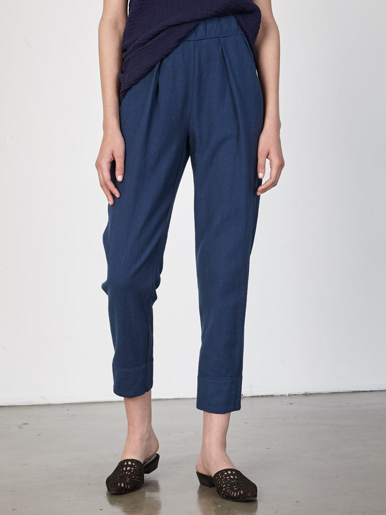 Sapphire Raw Cotton Easy Pant