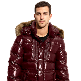 Moncler Rod Quilted Down Parka with Genuine Coyote Fur Trim