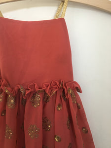 Estelle Dress Dusky Rose with Gold
