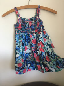 Evie Dress Black Flower