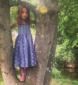 Evie Dress Blue Anchor