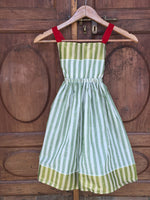 Kochi Dress in Green Stripe