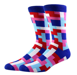 Tetris Blue Socks (Large)
