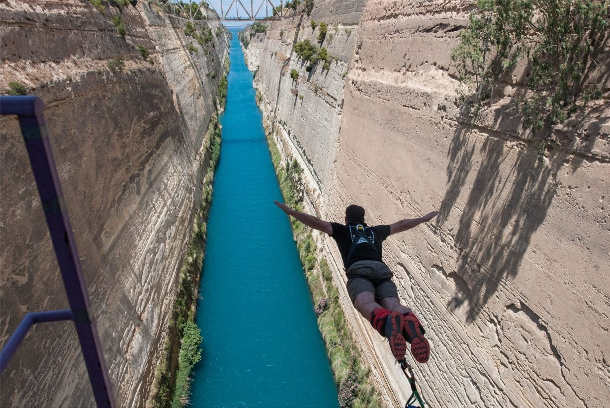 Bungy Jumping, Corinth Canal, Greece