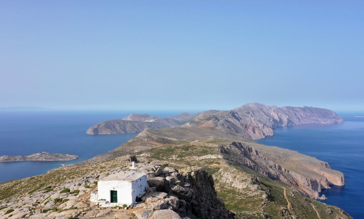 Diving off Amorgos Island, Greece