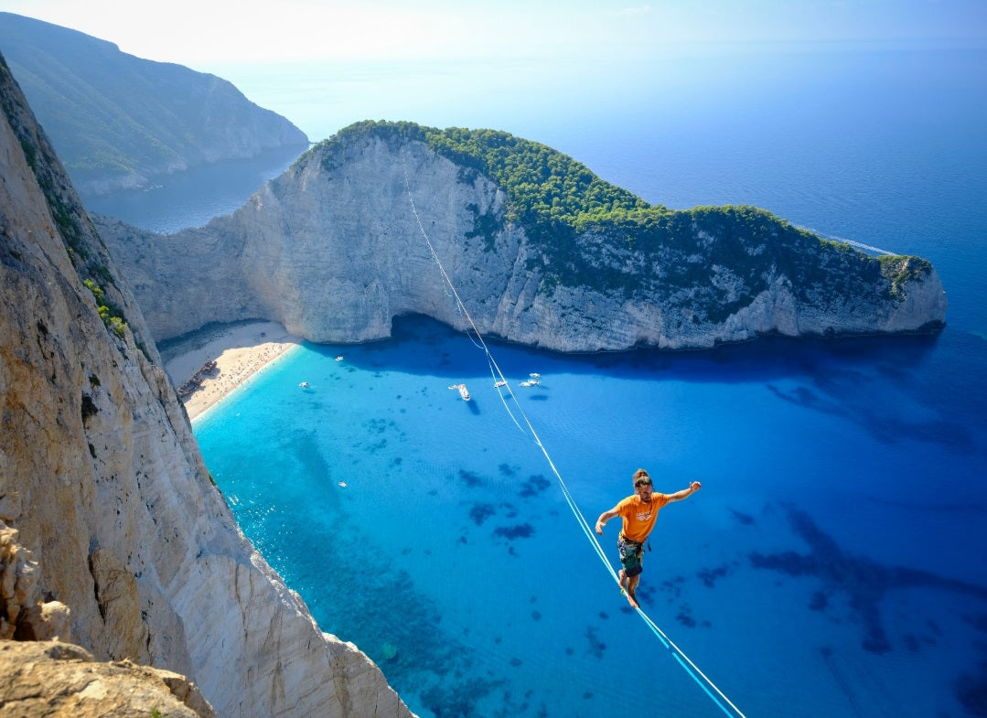 Highlining, Navagio, Zakynthos, Greece