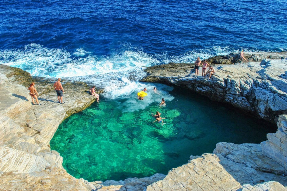 Giola natural sea pool, Thassos
