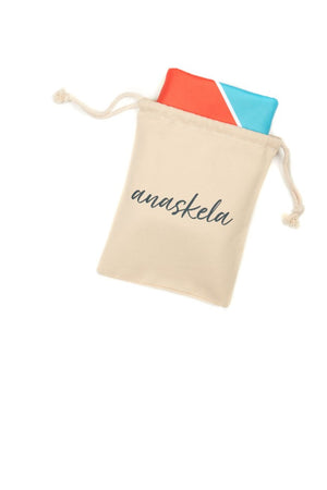 sustainable towel in pouch - anaskela