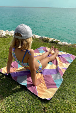 patterned childrens beach towel - anaskela
