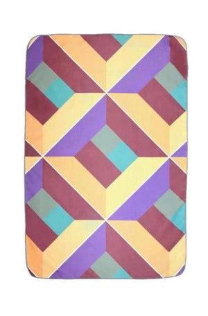purple patterned kids towel - anaskela