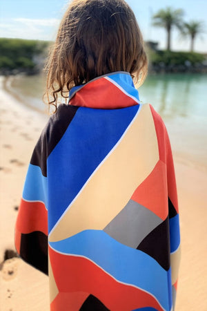 red and blue kids towel - anaskela