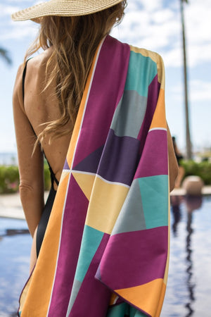sustainable beach towel - anaskela