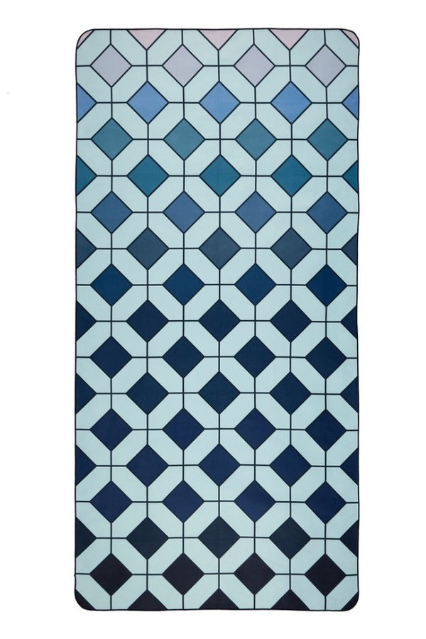blue patterned eco towel - anaskela