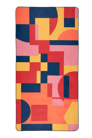 pink patterned beach towel - anaskela