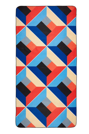 red and blue patterned towel - anaskela