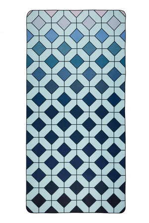 blue patterned beach towel - anaskela