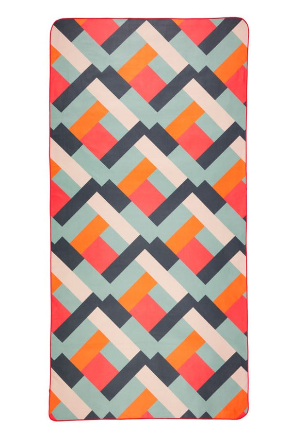 pink patterned quickdry beach towel - anaskela