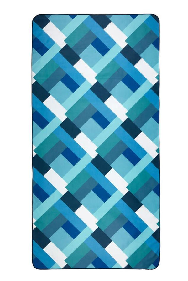 blue patterned recycled beach towel - anaskela