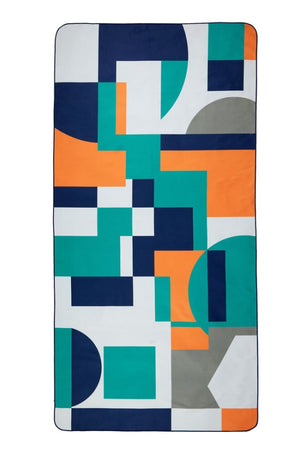 blue and green patterned towel - anaskela