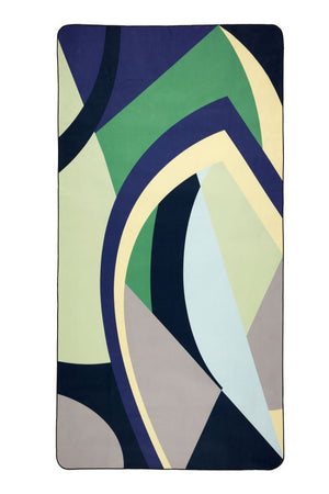 green black purple beach towel - anaskela