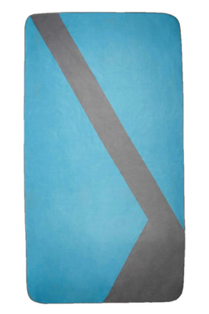 blue microfibre beach towel