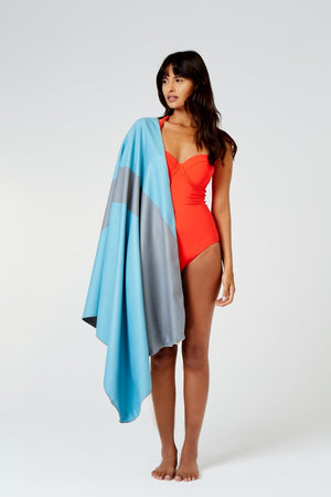 lightweight blue beach towel - anaskela